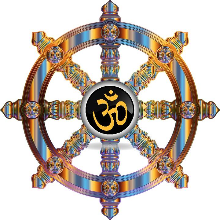 Eight Spoke Dharma Wheel